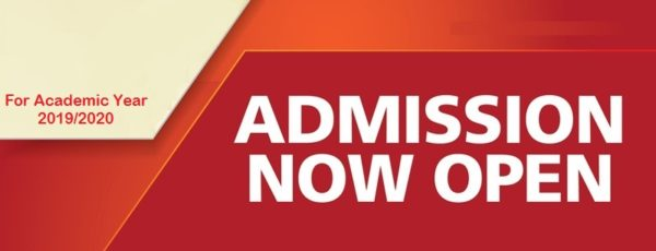 New Admissions for Academic Year 2019/2020